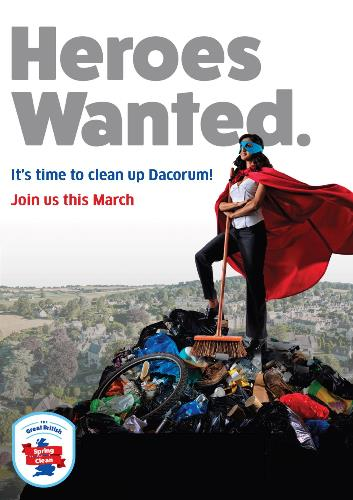 Poster appealing for volunteers for the Great British Spring Clean