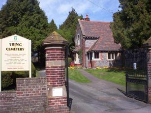 Image of entrance to Tring Cemetery