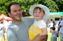Father and daughter at Armed Forces Day event in Gadebridge Park