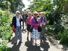 Group of people at Bushey Rose Gardens