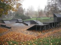 The skate park in Gadebridge park in the autumn