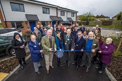 Mike Penning MP opens Johnson Court in Great Gaddesden