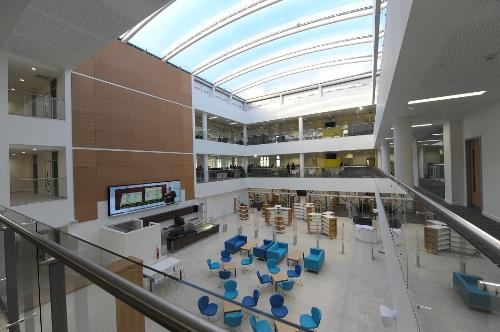 The Forum atrium looking towards the library