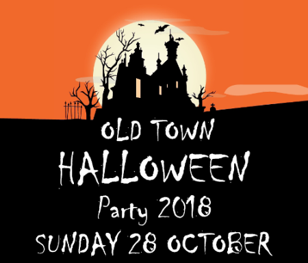 Poster for the Old Town Halloween Party 2018