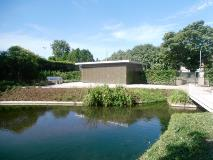 New community building in the newly restored Water Gardens