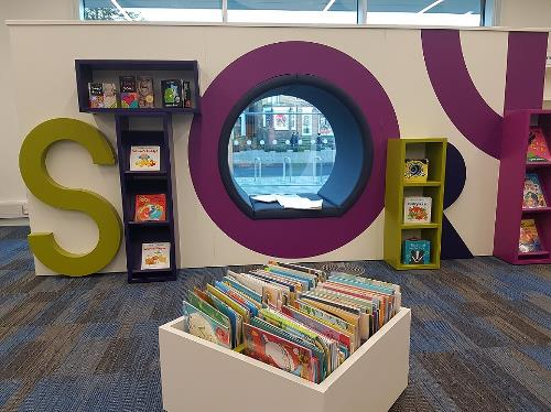 Children's story area in the new Hemel Hempstead Library